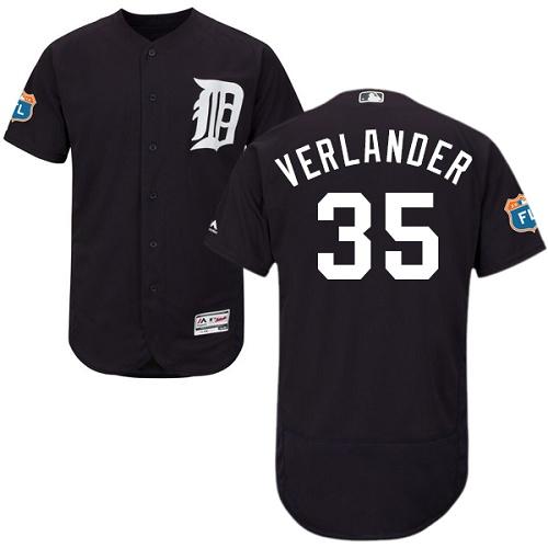Tigers 35 Justin Verlander Navy Flexbase Jersey