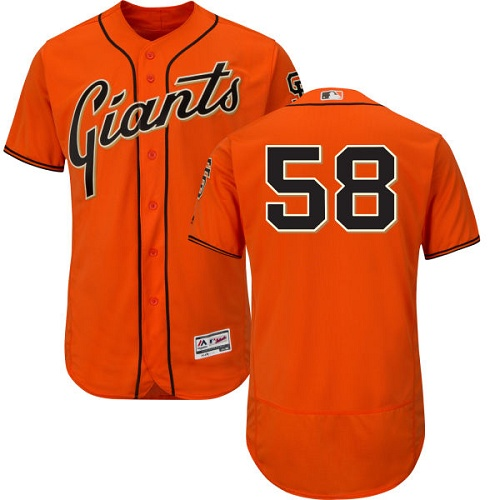 Giants 58 Gordon Beckham Orange Flexbase Jersey