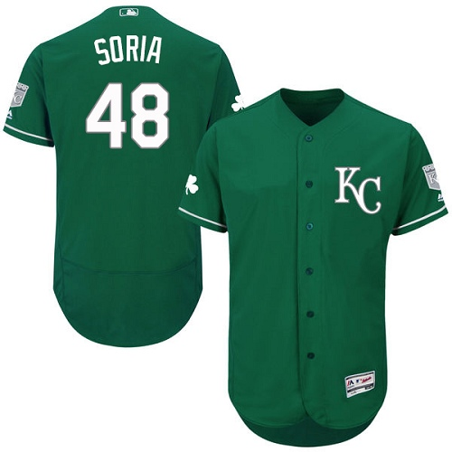 Royals 48 Joakim Soria Green Celtic Flexbase Jersey