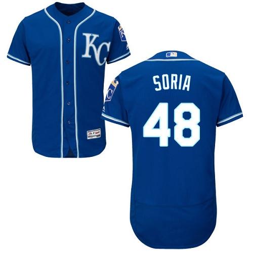 Royals 48 Joakim Soria Royal Flexbase Jersey