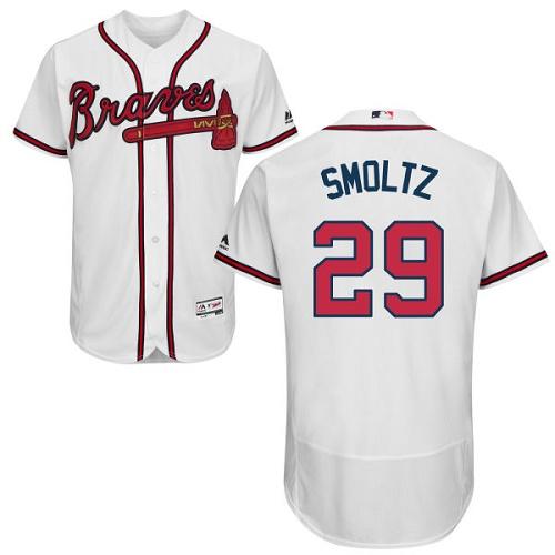 Braves 29 John Smoltz White Flexbase Jersey