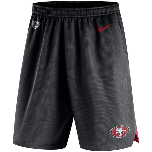 Men's San Francisco 49ers Nike Black Knit Performance Shorts