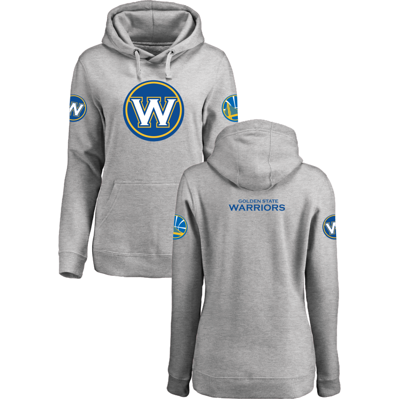 Golden State Warriors 2017 NBA Champions Gray Women's Pullover Hoodie3