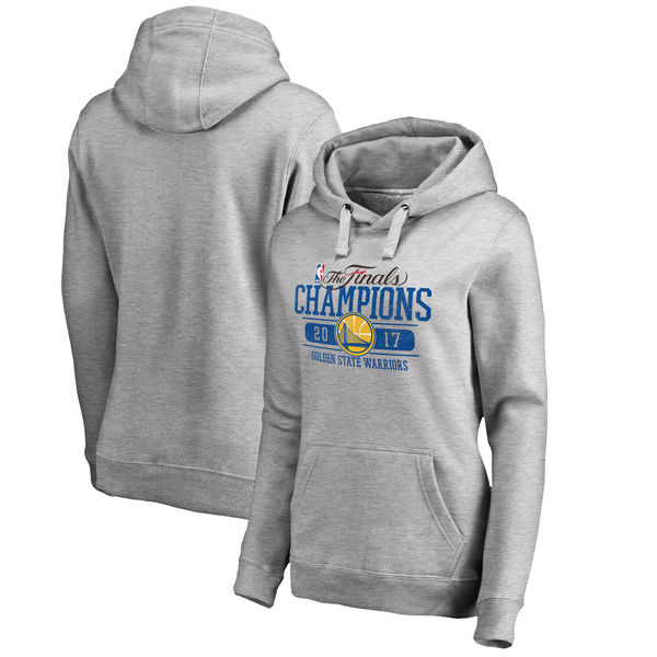 Golden State Warriors 2017 NBA Champions Gray Women's Pullover Hoodie5