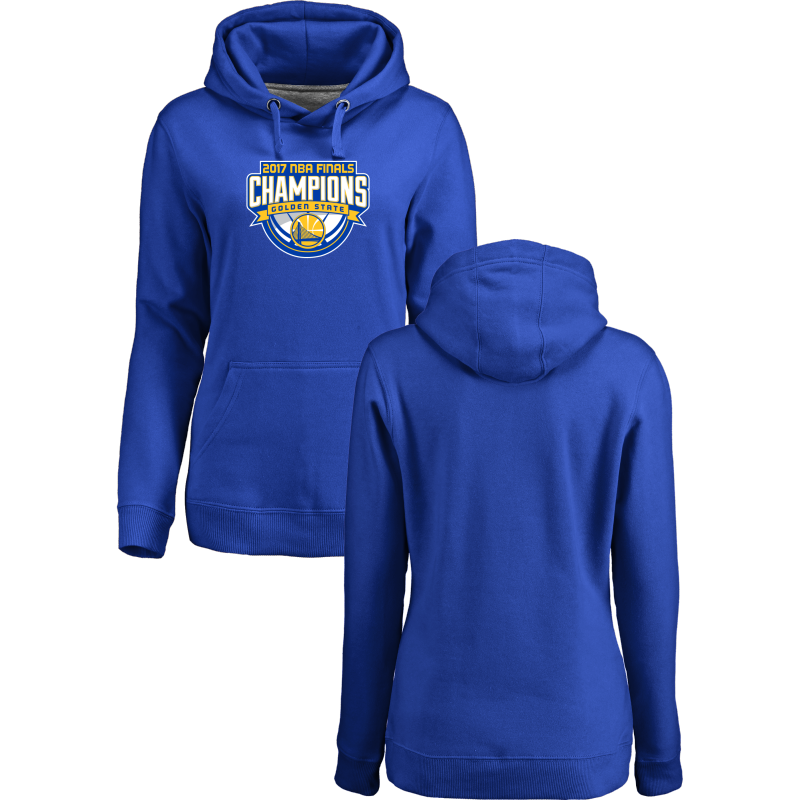 Golden State Warriors 2017 NBA Champions Royal Women's Pullover Hoodie