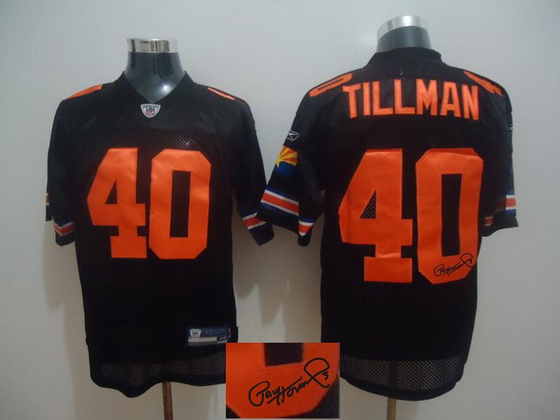 Cardinals 40 Pat Tillman Black Signature Edition M & N Jersey
