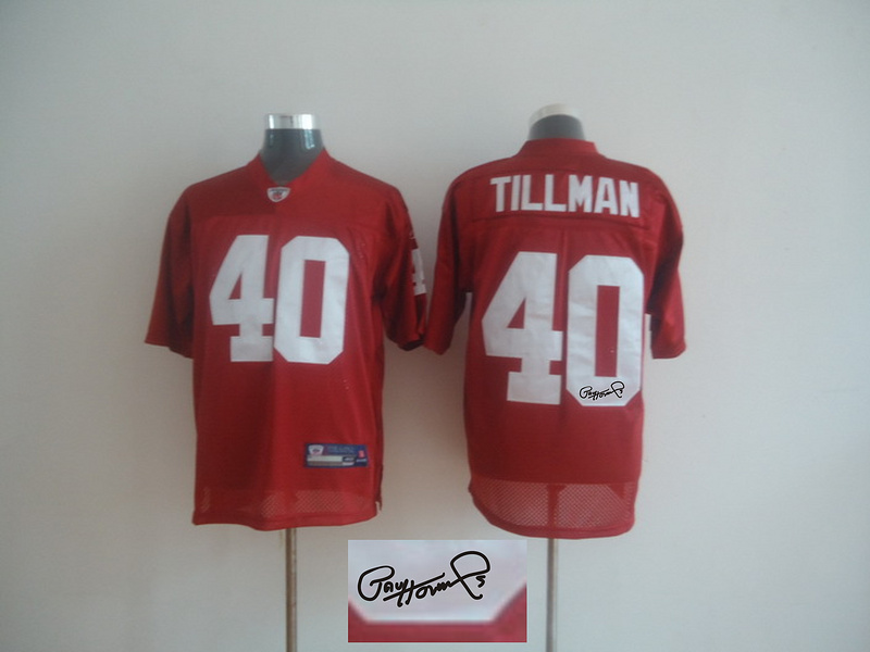 Cardinals 40 Pat Tillman Red Signature Edition M & N Jersey