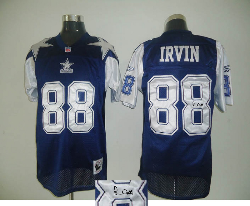 Cowboys 88 Michael Irvin Navy Thanksgiving Day