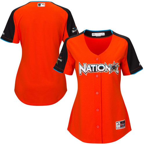 Women's National League Majestic Orange 2017 MLB All-Star Game Home Run Derby Team Jersey