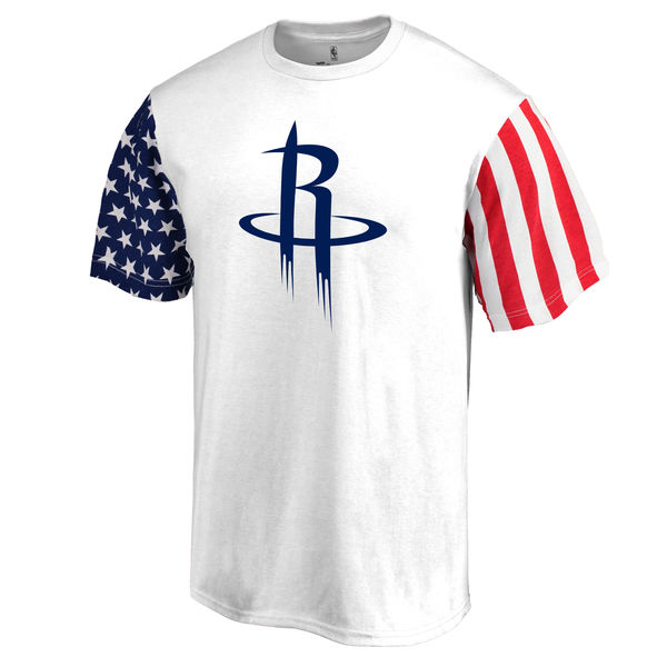 Houston Rockets Fanatics Branded Stars & Stripes T-Shirt White