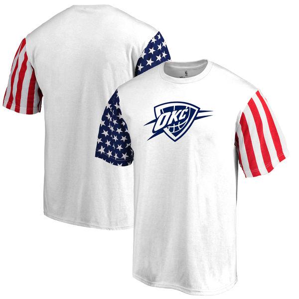 Oklahoma City Thunder Fanatics Branded Stars & Stripes T-Shirt White