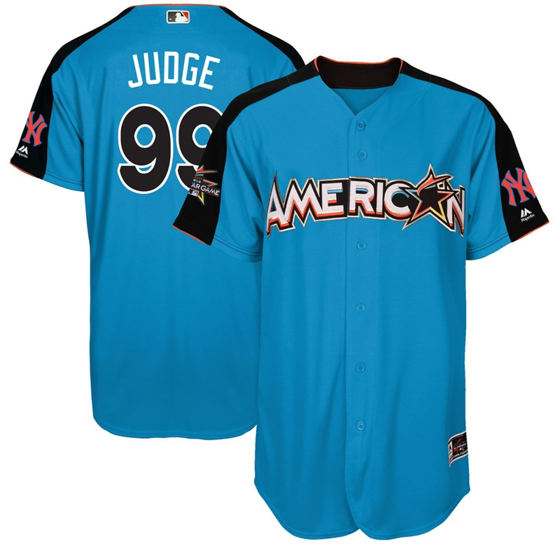 American League 99 Aaron Judge Blue 2017 MLB All-Star Game Home Run Derby Jersey