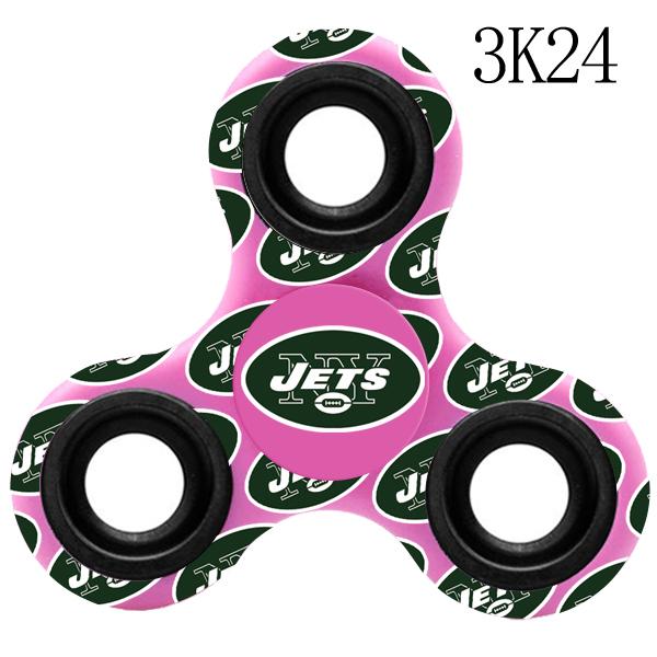 New York Jets Multi-Logo 3 Way Fidget Spinner