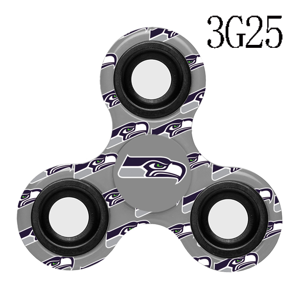 Seattle Seahawks Multi-Logo 3 Way Fidget Spinner