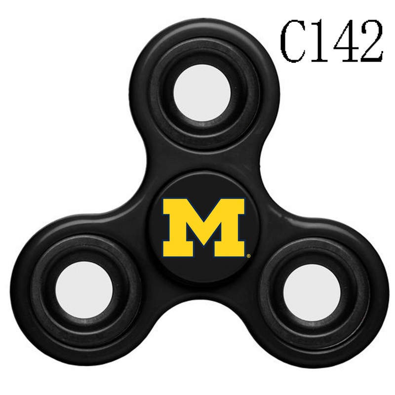 Michigan Wolverines Team Logo Black 3 Way Fidget Spinner