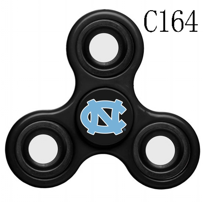 North Carolina Tar Heels Team Logo Black 3 Way Fidget Spinner