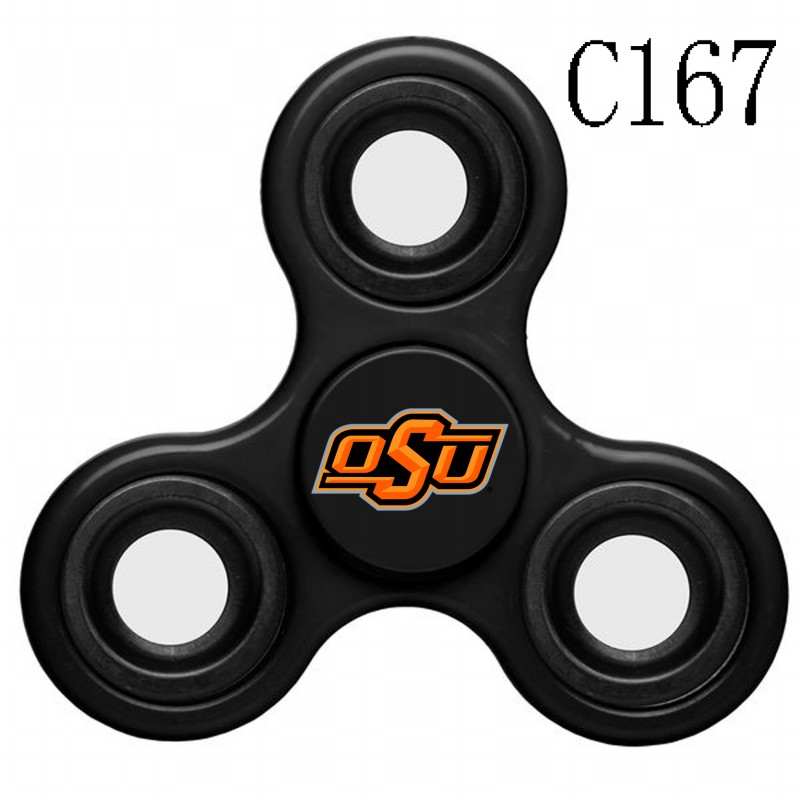 Oklahoma State Cowboys Team Logo Black 3 Way Fidget Spinner