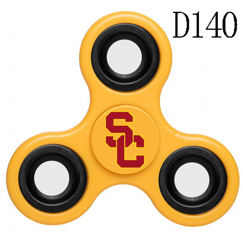Southern California Trojans Team Logo Yellow 3 Way Fidget Spinner