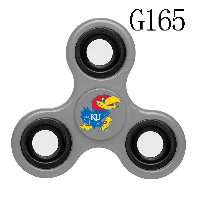 Kansas Jayhawks Team Logo Gray 3 Way Fidget Spinner