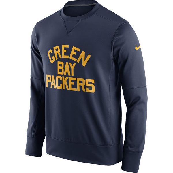Men's Green Bay Packers Nike Navy Circuit Alternate Sideline Performance Sweatshirt