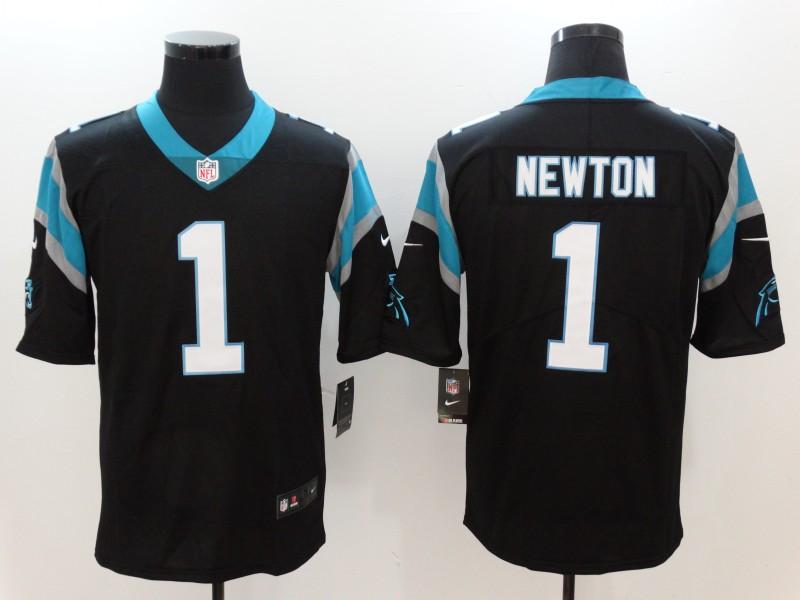 Nike Panthers 1 Cam Newton Black Vapor Untouchable Player Limited Jersey