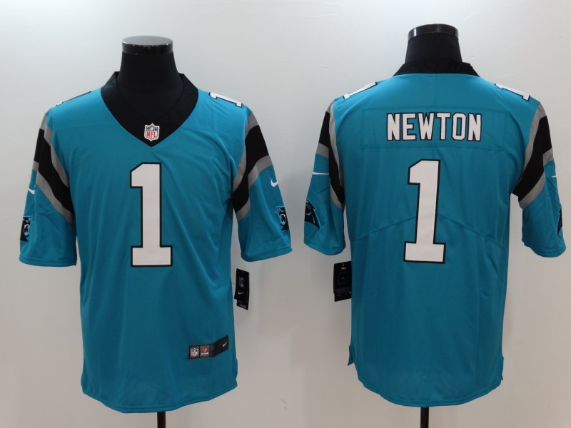 Nike Panthers 1 Cam Newton Blue Vapor Untouchable Player Limited Jersey