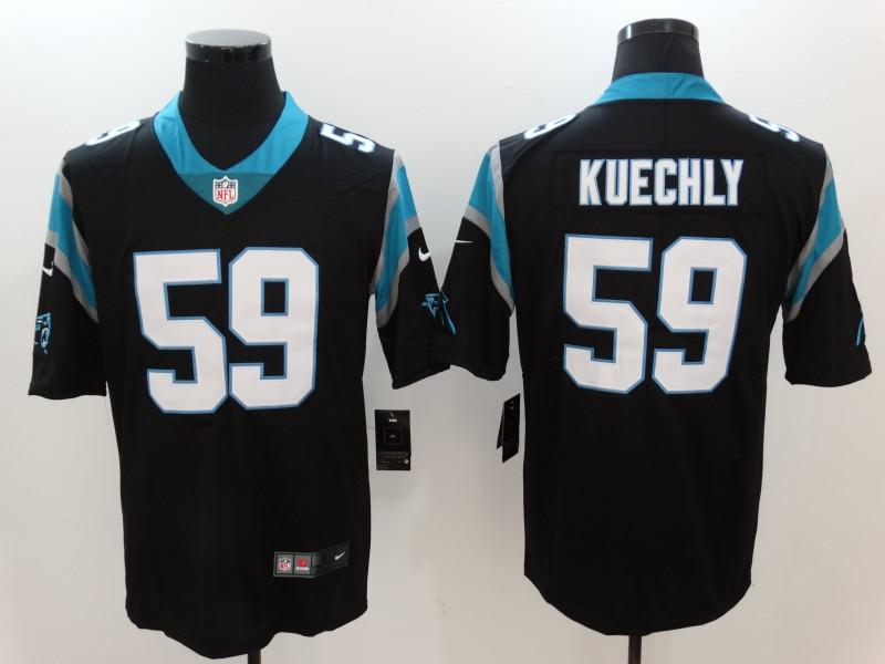Nike Panthers 59 Luke Kuechly Black Vapor Untouchable Player Limited Jersey