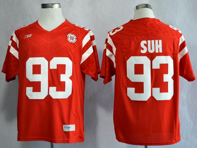 Nebraska Cornhuskers 93 Ndamukong Suh Red College Football Jersey