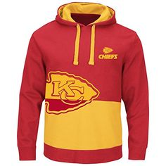 Kansas City Chiefs Red & Gold Split All Stitched Hooded Sweatshirt