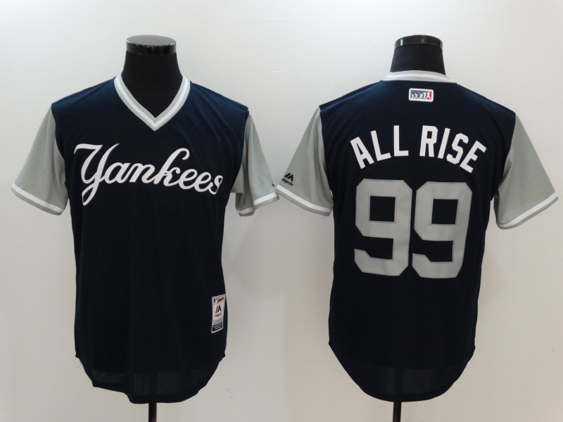 Yankees 99 Aaron Judge All Rise Majestic Navy 2017 Players Weekend Jersey