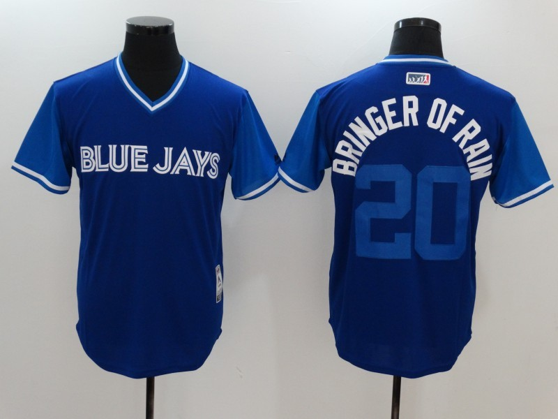 Blue Jays 20 Josh Donaldson Bringer of Rain Majestic Navy 2017 Players Weekend Jersey