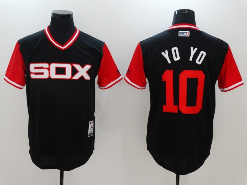 White Sox 10 Yoan Moncada YoYo Majestic Black 2017 Players Weekend Jersey