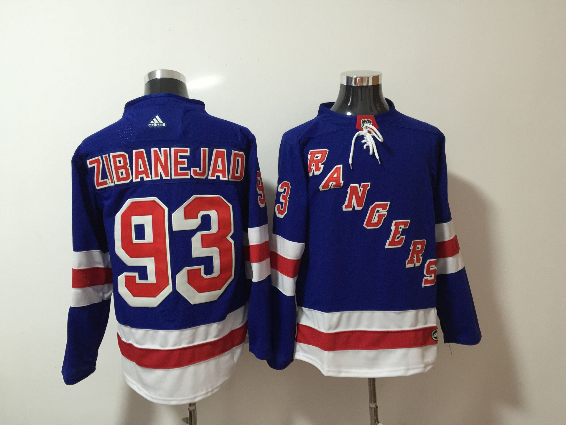 Rangers 93 Mika Zibanejad Blue Adidas Jersey