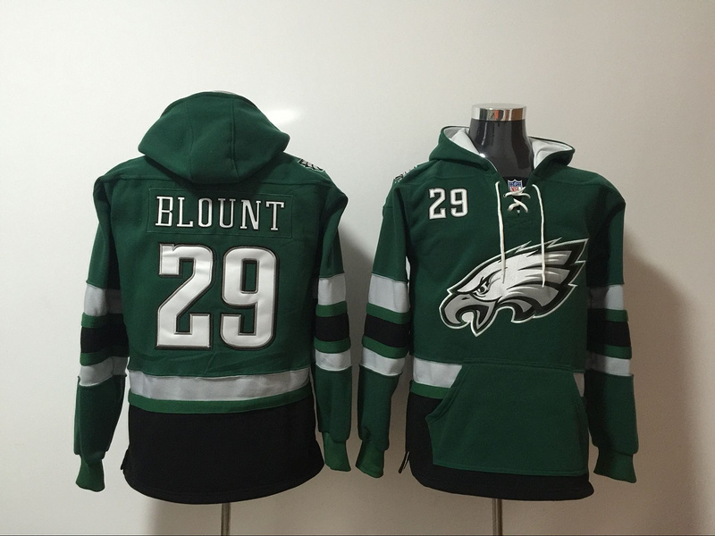 Philadelphia Eagles 29 LeGarrette Blount Green All Stitched Hooded Sweatshirt