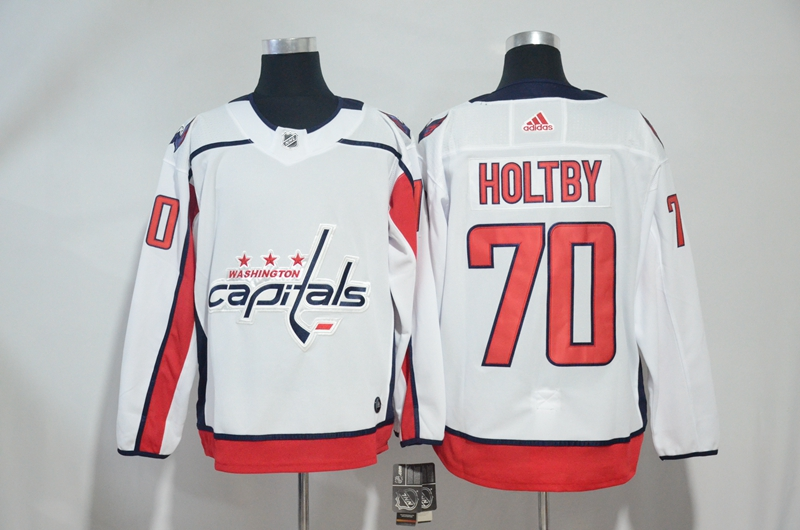 Capitals 70 Braden Holtby White Adidas Jersey