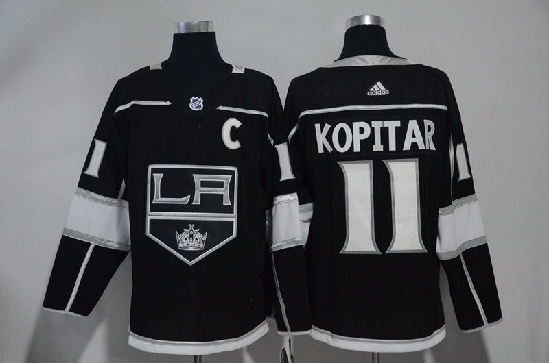 Kings 11 Anze Kopitar Black Adidas Jersey