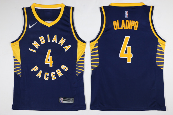 Pacers 4 Victor Oladipo Navy Nike Swingman Jersey