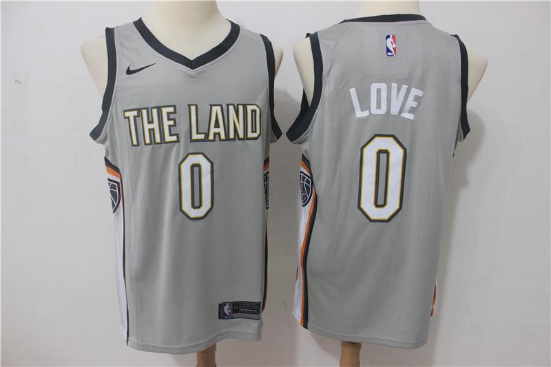 Cavaliers 0 Kevin Love Gray Nike City Edition Swingman Jersey