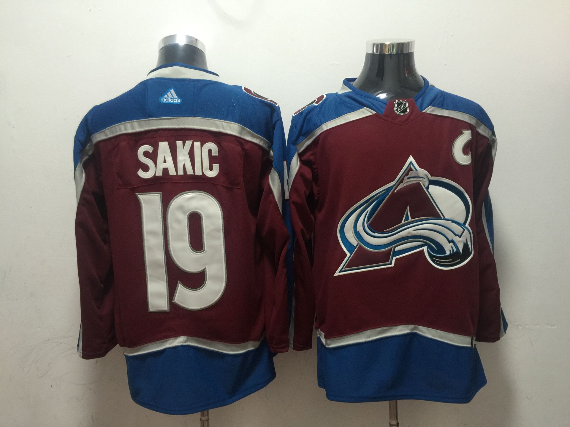 Avalanche 19 Joe Sakic Red Adidas Jersey
