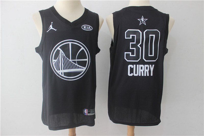 Warriors 30 Stephen Curry Black 2018 All-Star Game Swingman Jersey