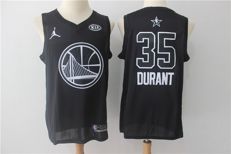 Warriors 35 Kevin Durant Black 2018 All-Star Game Swingman Jersey