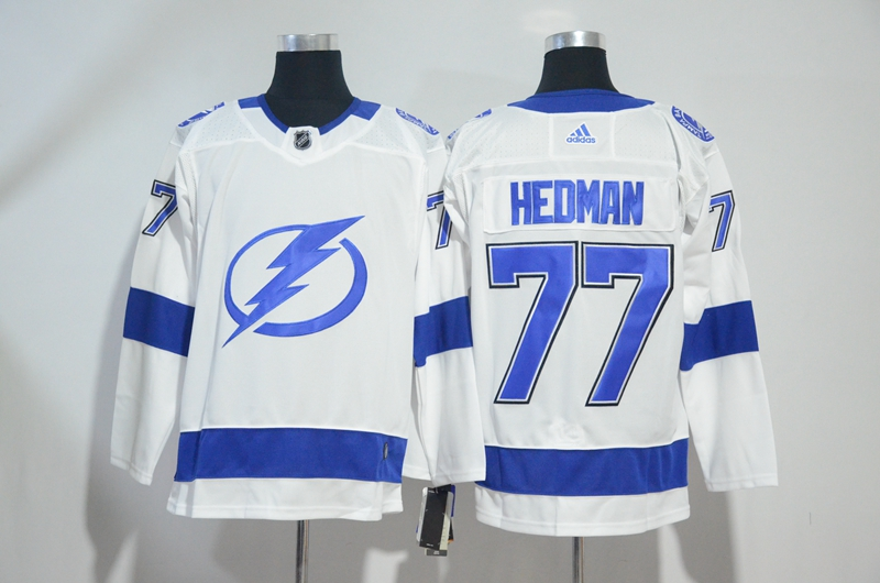 Lightning 77 Victor Hedman White Adidas Jersey