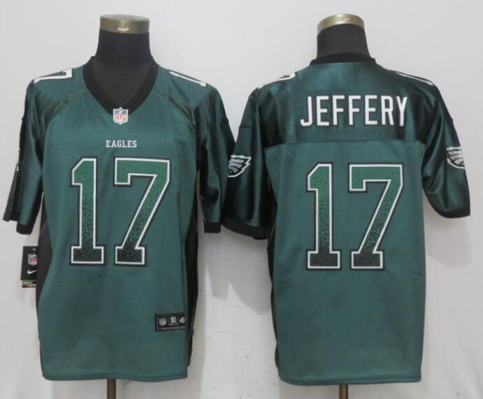 Nike Eagles 17 Alshon Jeffery Green Drift Fashion Elite Jersey