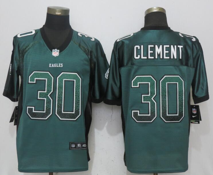 Nike Eagles 30 Corey Clement Green Drift Fashion Elite Jersey