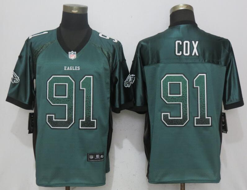 Nike Eagles 91 Fletcher Cox Green Drift Fashion Elite Jersey
