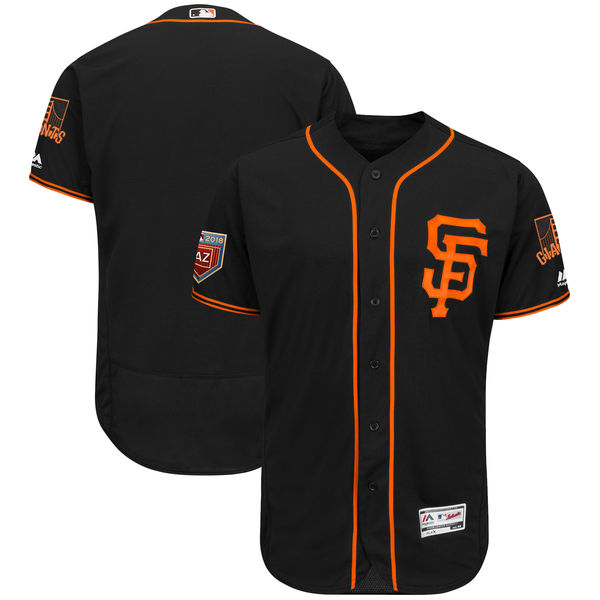Giants Blank Black 2018 Spring Training Flexbase Jersey