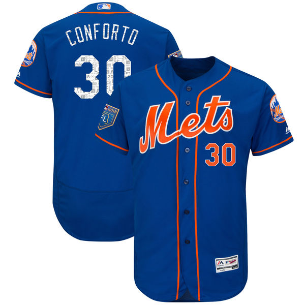 Mets 30 Michael Conforto Royal 2018 Spring Training Flexbase Jersey