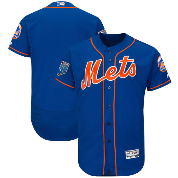 Mets Blank Royal 2018 Spring Training Flexbase Jersey