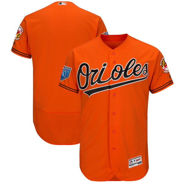 Orioles Blank Orange 2018 Spring Training Flexbase Jersey