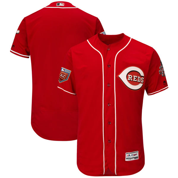 Reds Blank Red 2018 Spring Training Flexbase Jersey